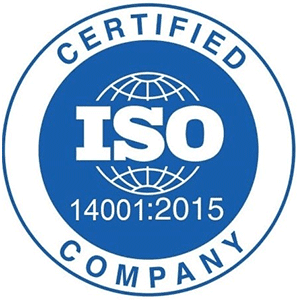 ISO 14001:2015 Certified Company.